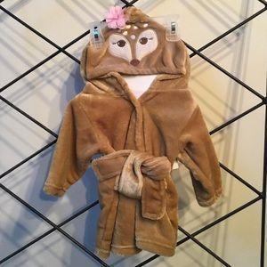 Hudson Baby: Hooded Baby girls bathrobe.